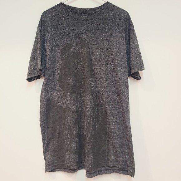 Mens Star Wars Gray Vader Graphic Tee Shirt
